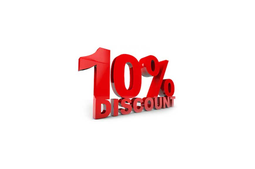 Special Offer - 10% discount